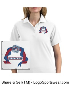 Ladies White Polo Design Zoom