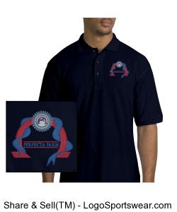 Men's Navy Polo Design Zoom