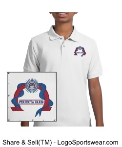 Youth White Polo Design Zoom
